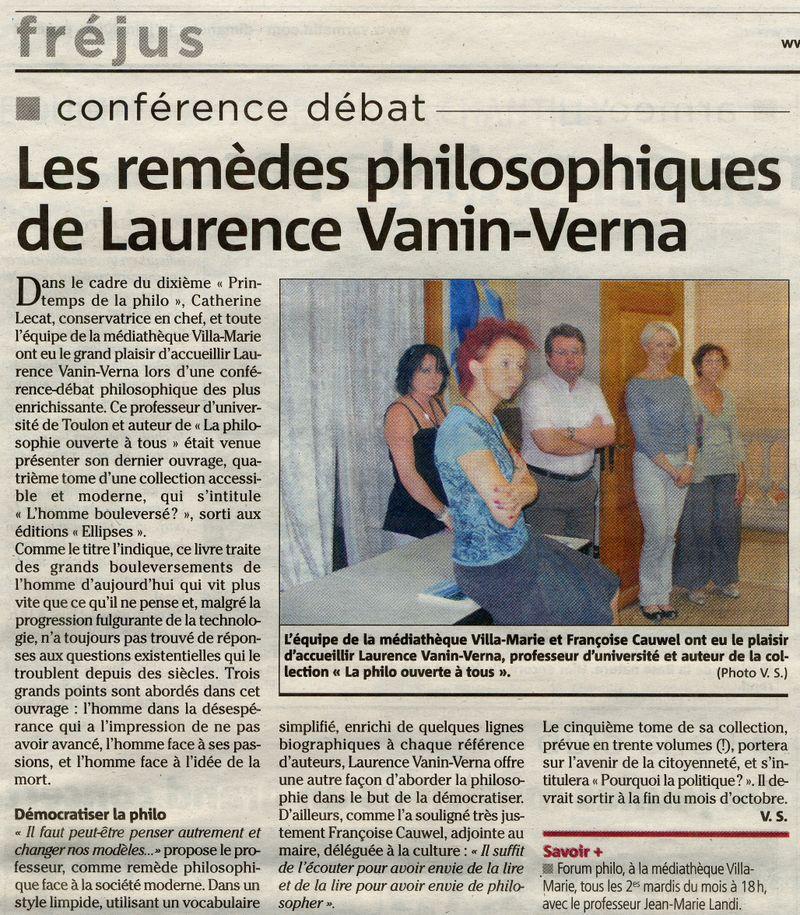 Conférence Laurence VANIN VERNA